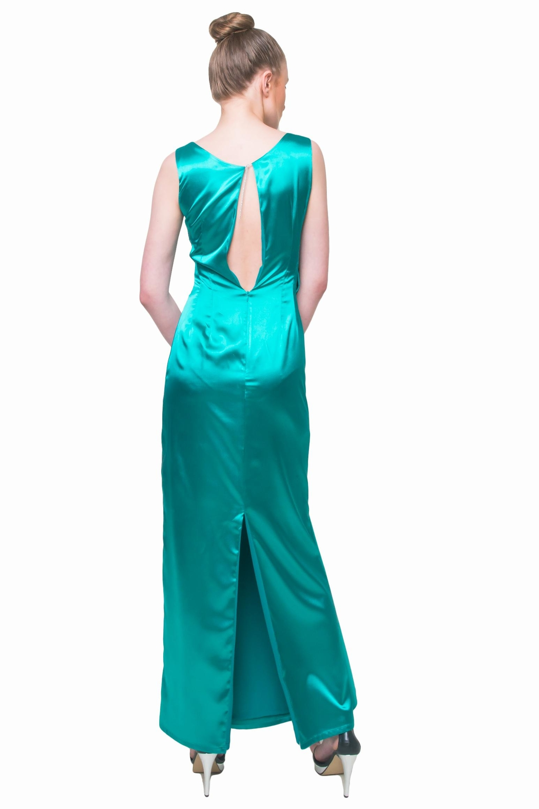 Aubert Design Lauren Satin Dress - Front Full Image