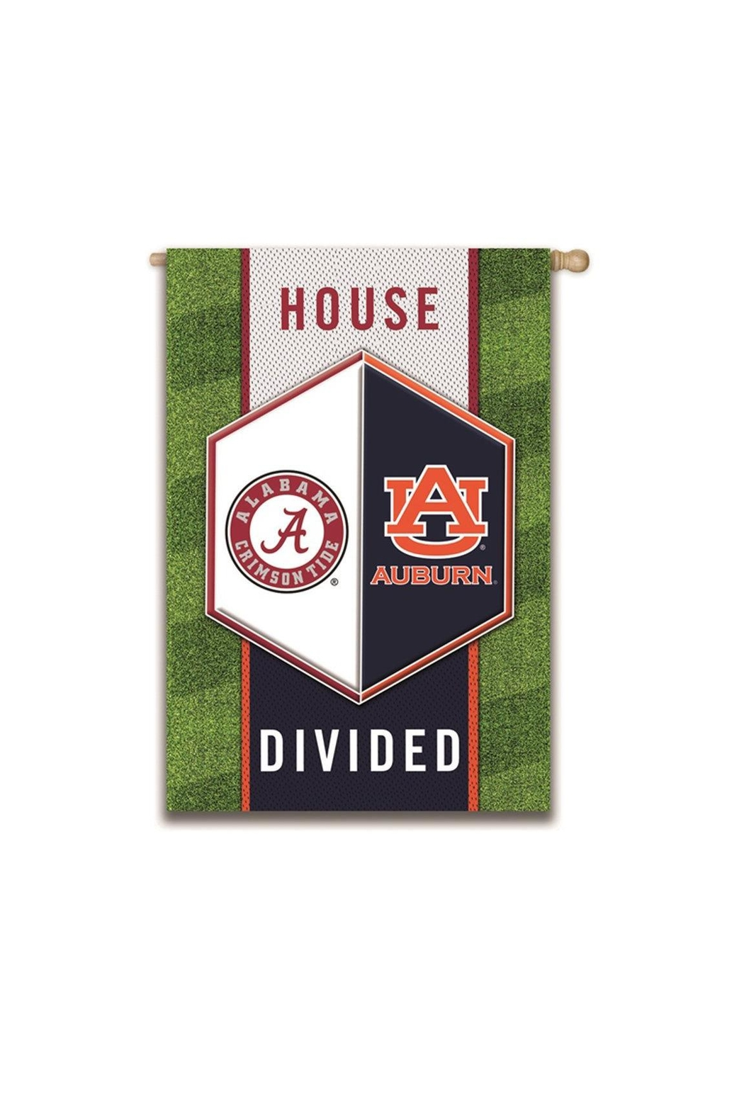Evergreen Enterprises Auburn/alabama Divided Flag - Front Full Image