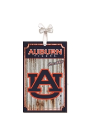 Heritage Auburn Corrugated Ornament - Front cropped