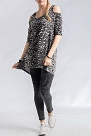 Audge Podge Leopard High Low Top - Product Mini Image