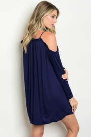 Auditions Blue Ruffle Dress - Front full body