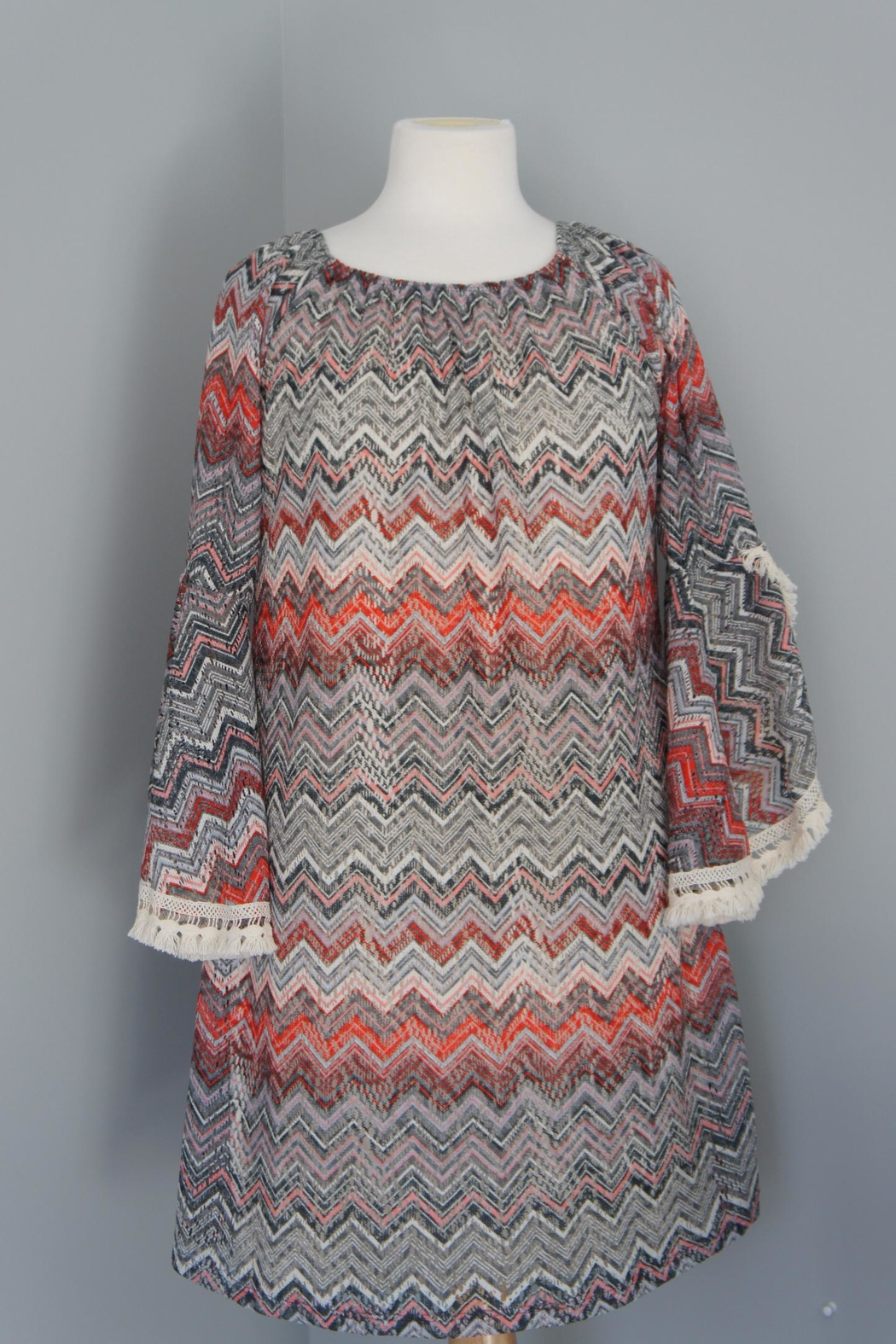 Auditions Chevron Sweater Tunic - Front Full Image
