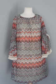 Auditions Chevron Sweater Tunic - Front full body