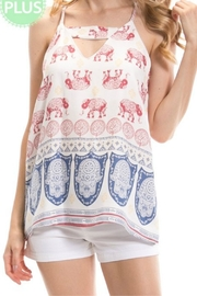 Auditions Elephant Print Top - Front cropped
