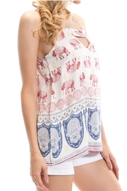 Auditions Elephant Print Top - Side cropped