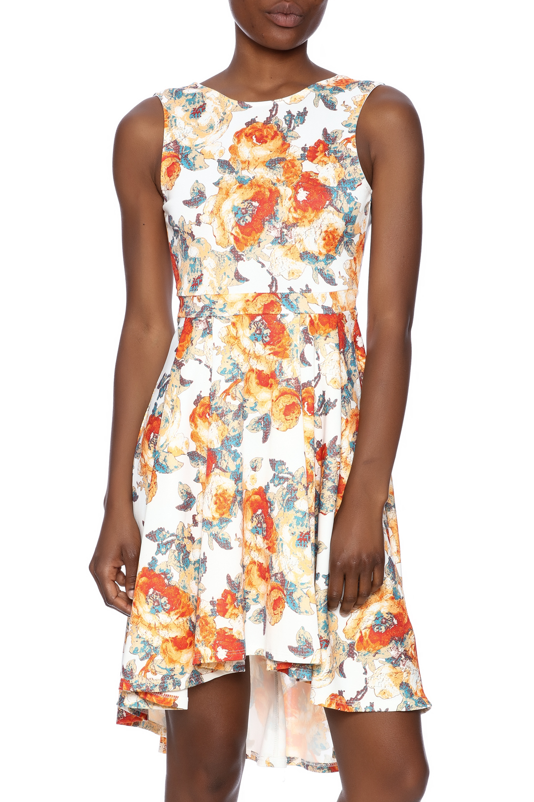Auditions Floral High-Low Dress - Main Image