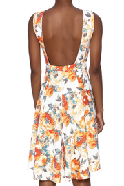 Auditions Floral High-Low Dress - Back cropped