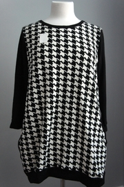 Auditions Houndstooth Block Sweater - Product Mini Image