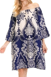 Auditions Paisley Off-Shoulder Tnic - Product Mini Image