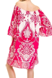 Auditions Paisley Off-Shoulder Tnic - Front full body