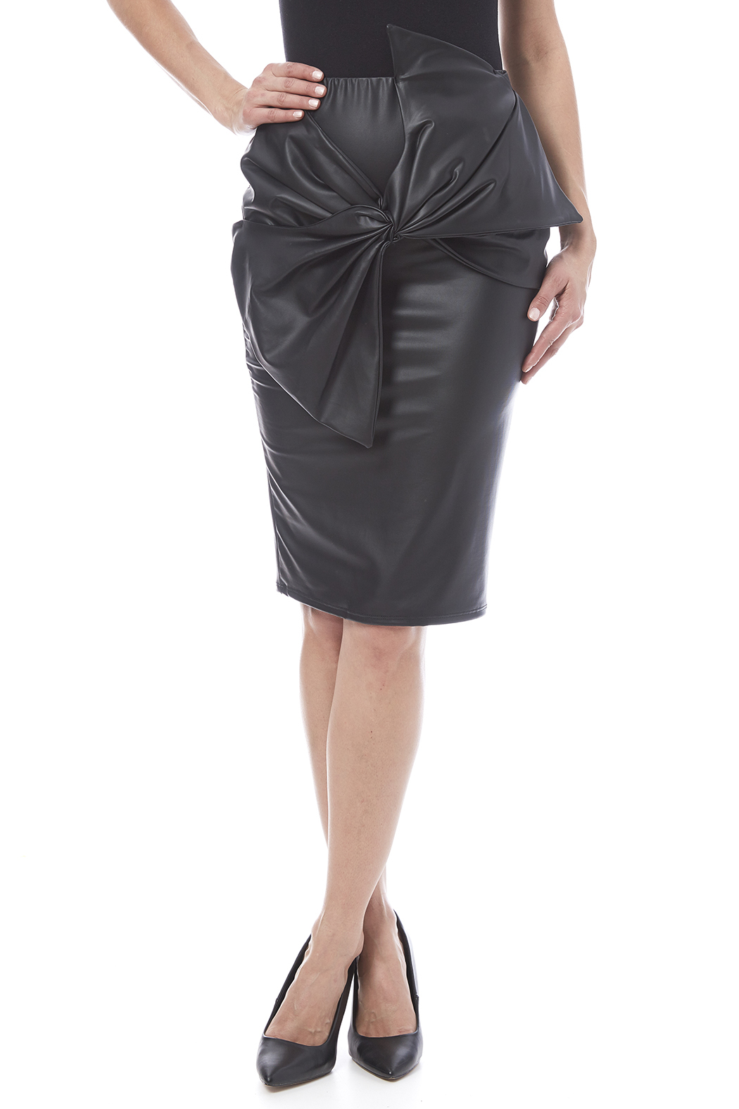Auditions Faux Leather Pencil Skirt - Main Image