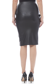 Auditions Faux Leather Pencil Skirt - Back cropped