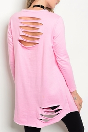 Auditions Pink Distressed Top - Front full body