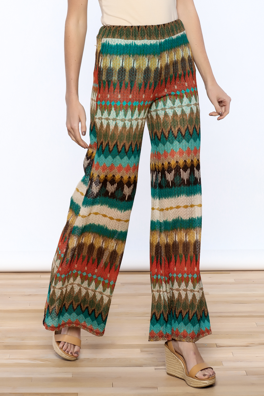 Auditions Printed Palazzo Pant - Main Image