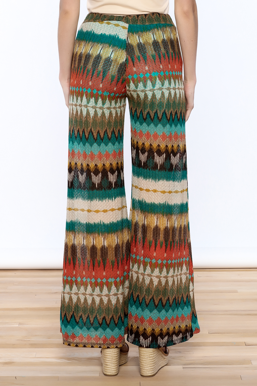 Auditions Printed Palazzo Pant - Back Cropped Image