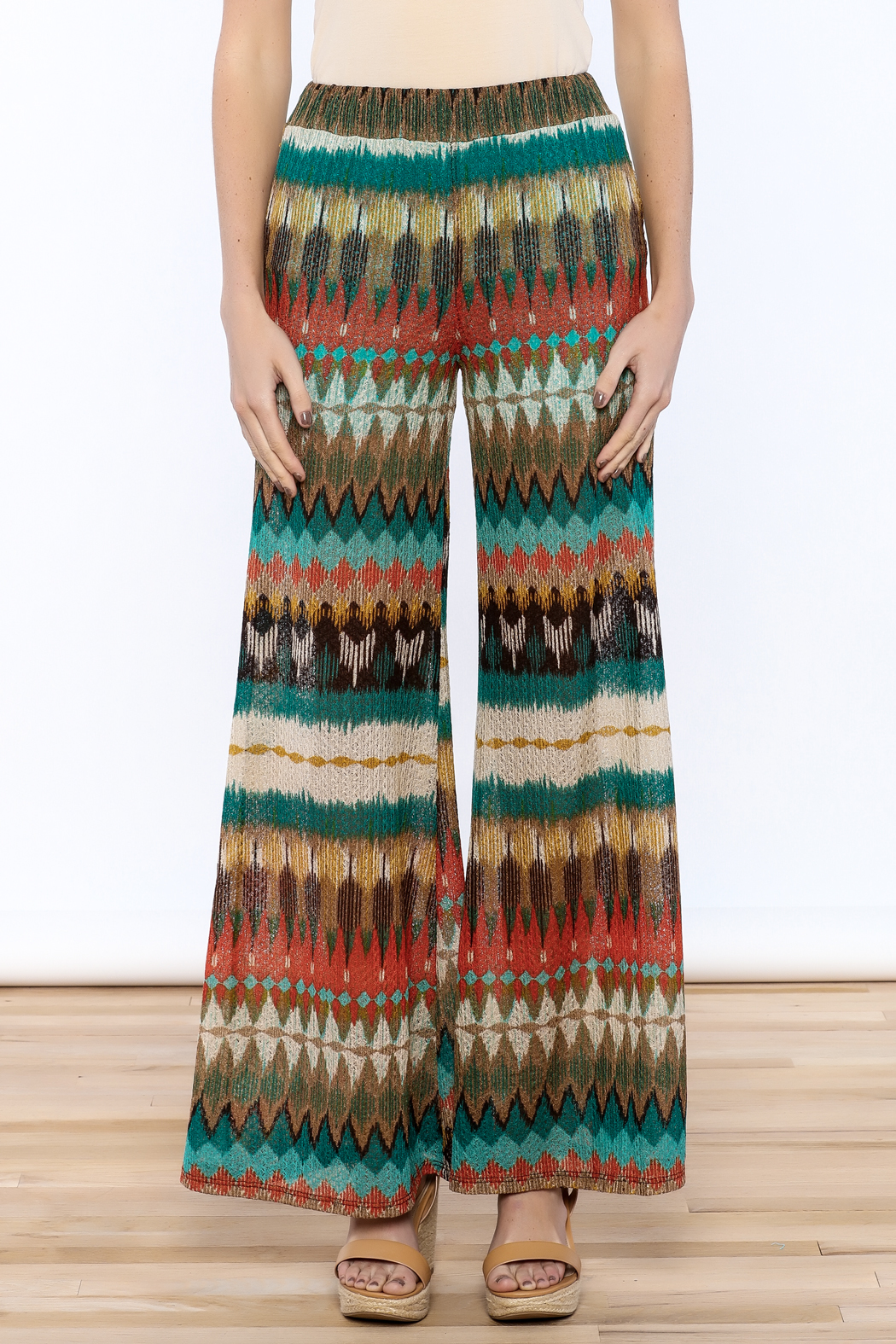 Auditions Printed Palazzo Pant - Side Cropped Image