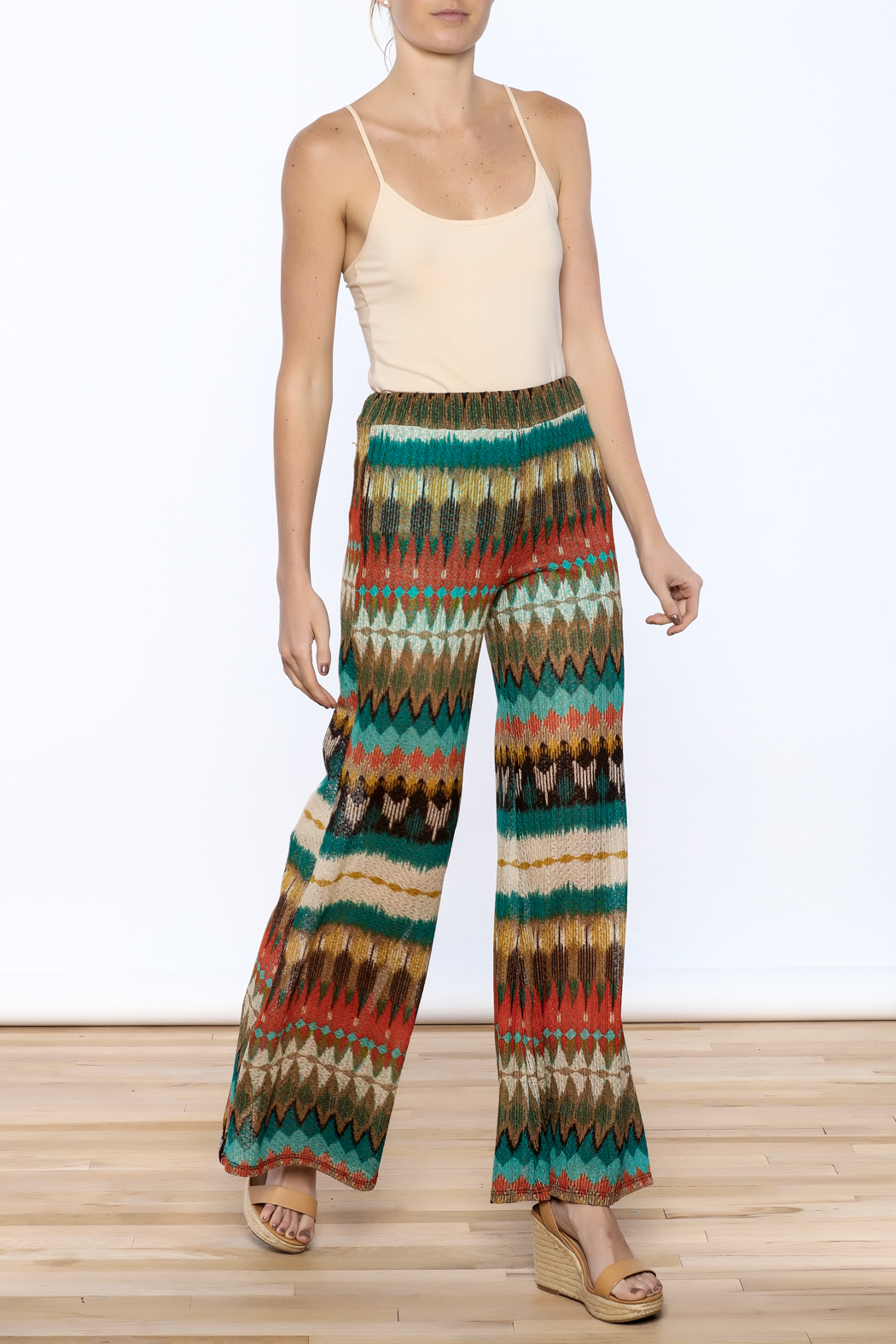 Auditions Printed Palazzo Pant - Front Full Image