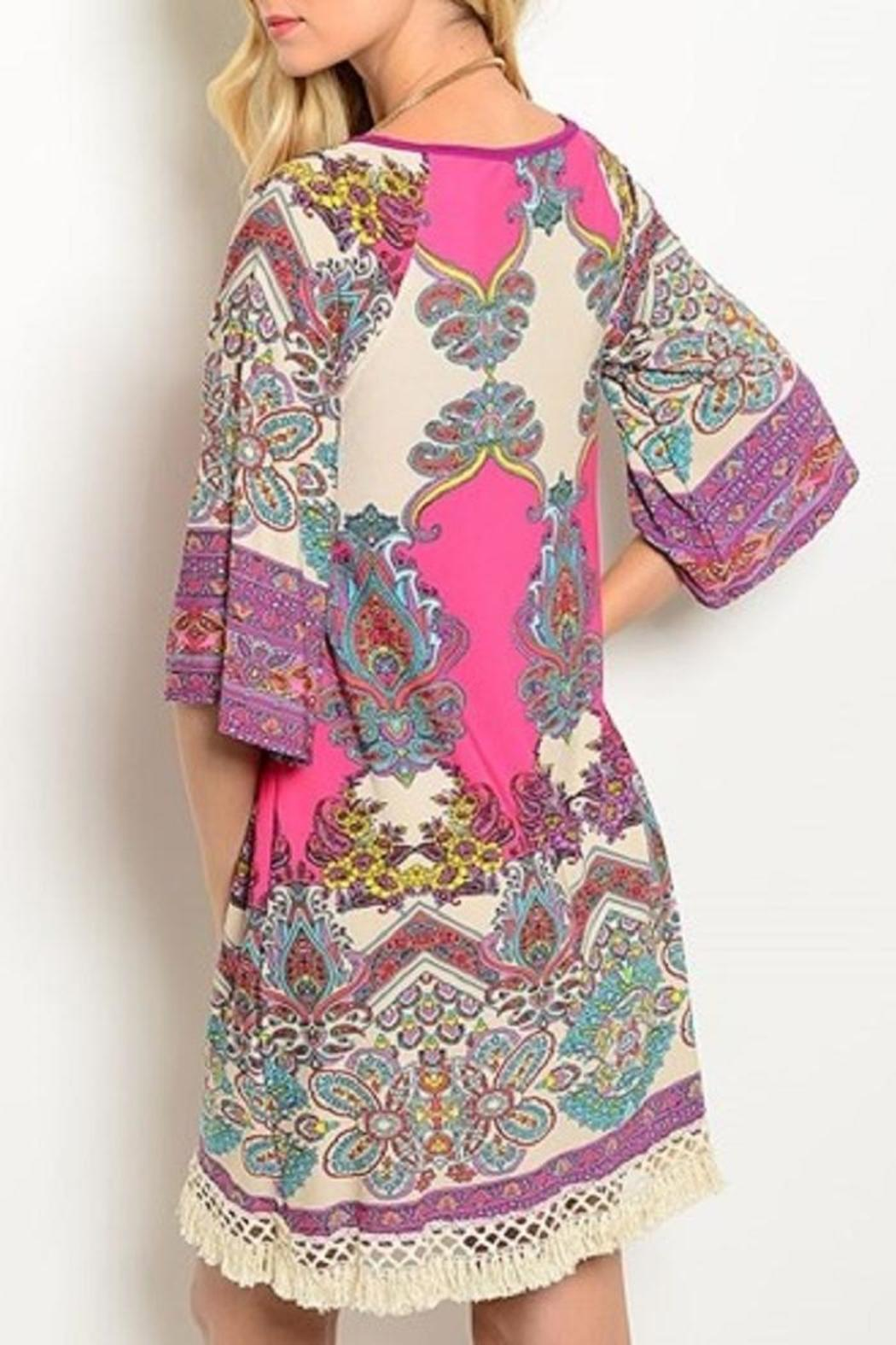 Auditions Multicolor Paisley Dress - Front Full Image
