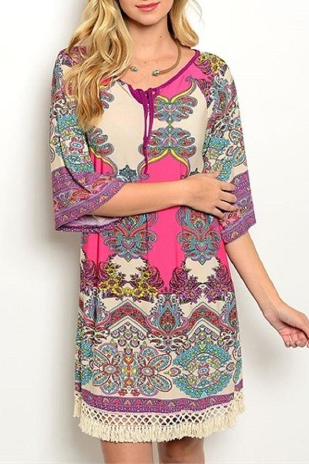 Auditions Multicolor Paisley Dress - Main Image