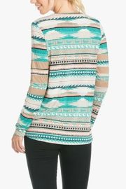 Auditions Tribal Print Top - Front full body