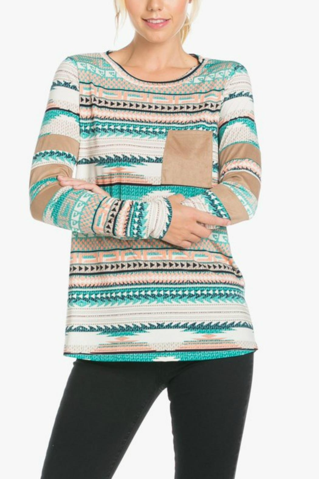 Auditions Tribal Print Top - Main Image