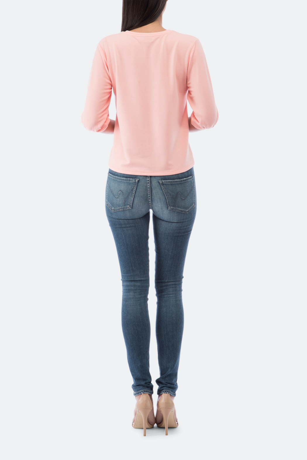 Bobeau Audre Puff Sleeve French Terry Top - Side Cropped Image
