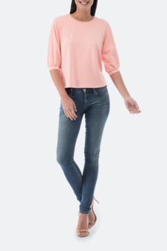 Bobeau Audre Puff Sleeve French Terry Top - Product List Image