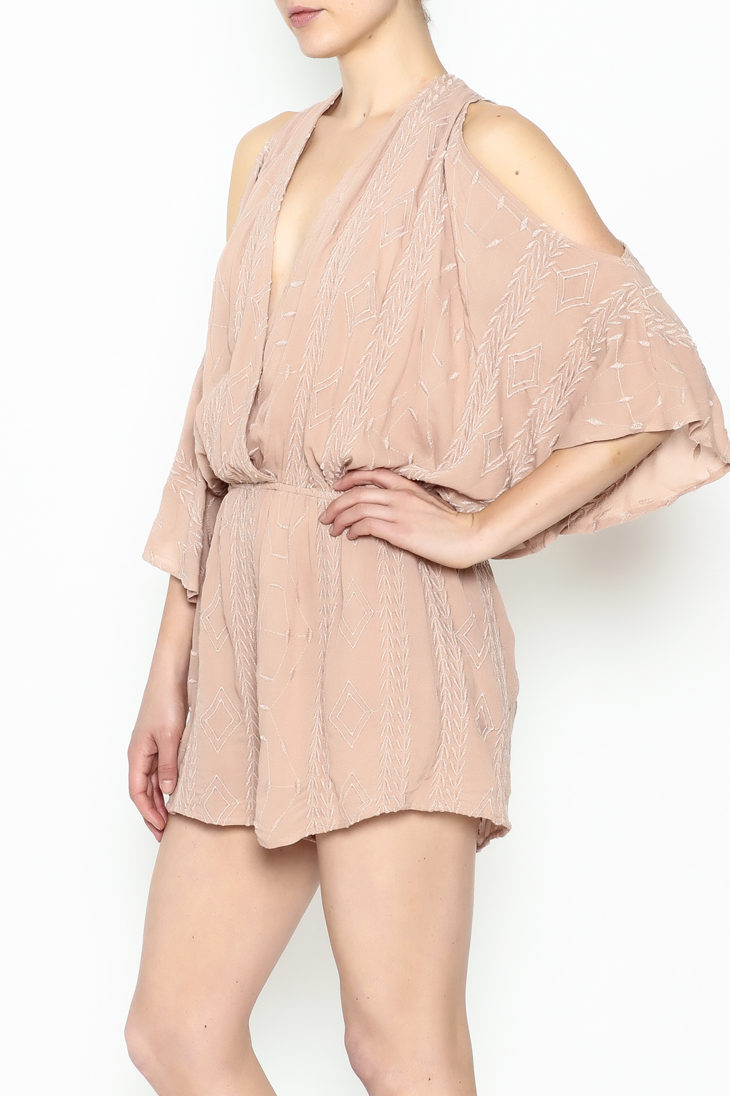 Audrey 3+1 Blush Embroidered Romper - Main Image