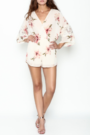 Audrey 3+1 Floral Lace Romper - Side cropped