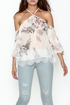 Shoptiques Product: Floral Cold Shoulder Blouse