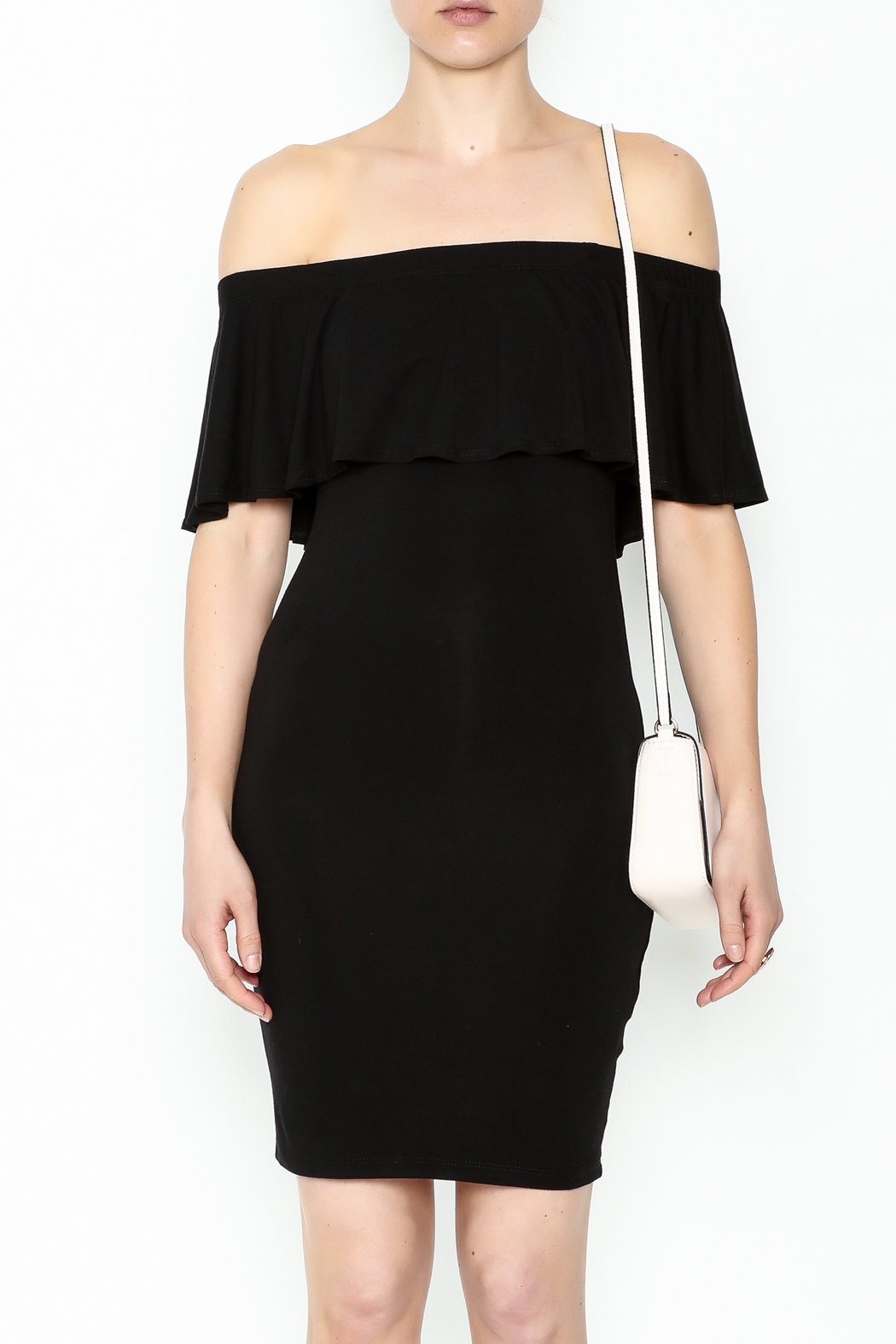 Audrey 3+1 Off Shoulder Cindy Dress - Front Full Image