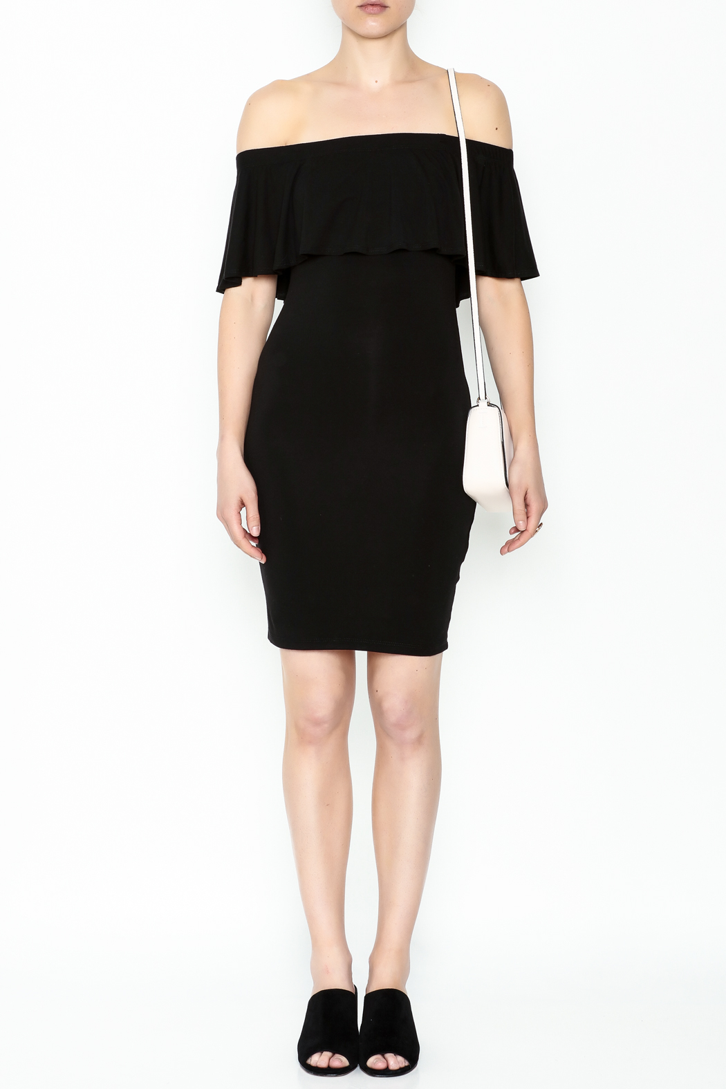 Audrey 3+1 Off Shoulder Cindy Dress - Side Cropped Image