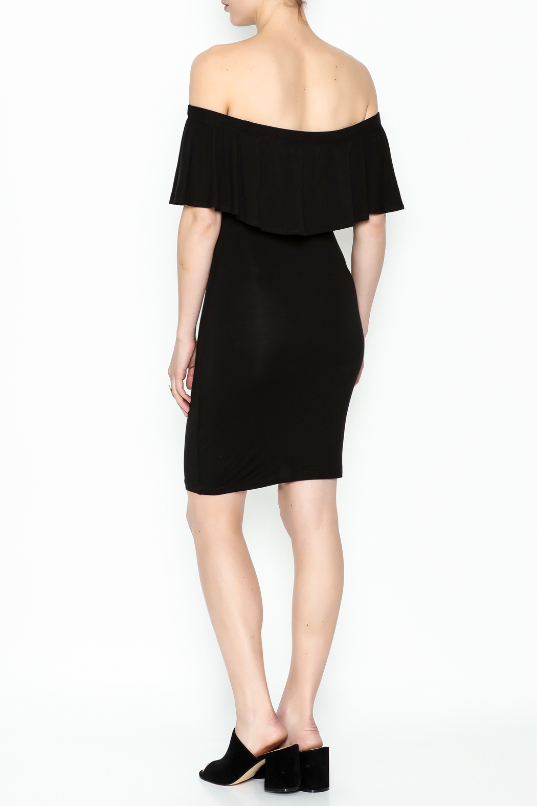 Audrey 3+1 Off Shoulder Cindy Dress - Back Cropped Image