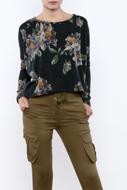 Audrey 3+1 Oversized Floral Sweatshirt - Product Mini Image