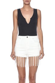 Audrey 3+1 Plunge Neck Bodysuit - Side cropped