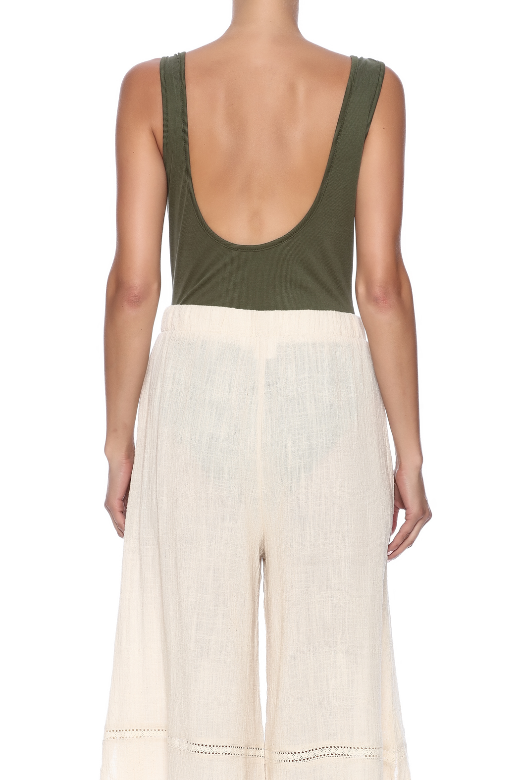Audrey 3+1 Plunge Neck Bodysuit - Back Cropped Image
