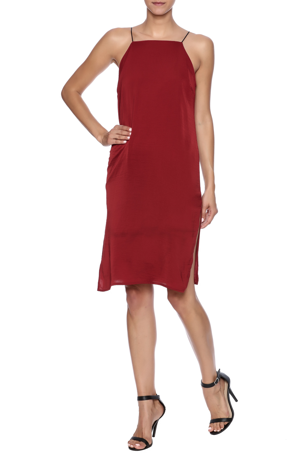 red slip dress #swoonboutique | Red slip dress, Swoon