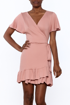 Audrey 3+1 Old Rose Wrap Dress - Product List Image