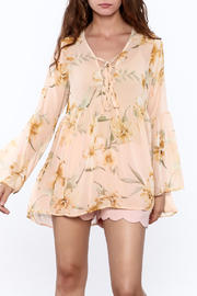 Audrey 3+1 Sheer Floral Blouse - Product Mini Image