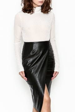 Audrey 3+1 Velvet Burnout Turtleneck Top - Product List Image