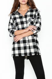 Audrey Plaid Boyfriend Shirt - Product Mini Image