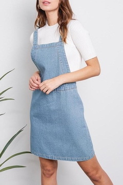 Audrey Denim Overall Skirt - Product List Image