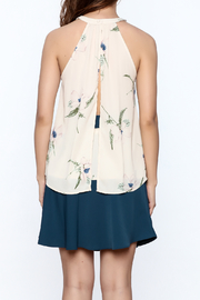 Audrey Beige Floral Printed Top - Back cropped