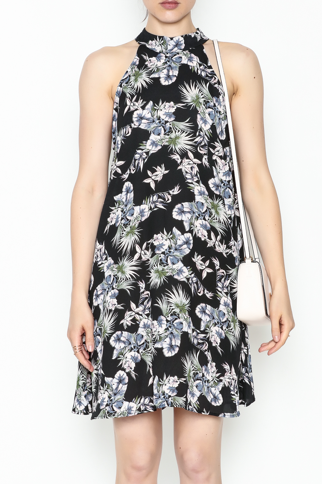 Audrey Floral Flare Dress - Front Full Image
