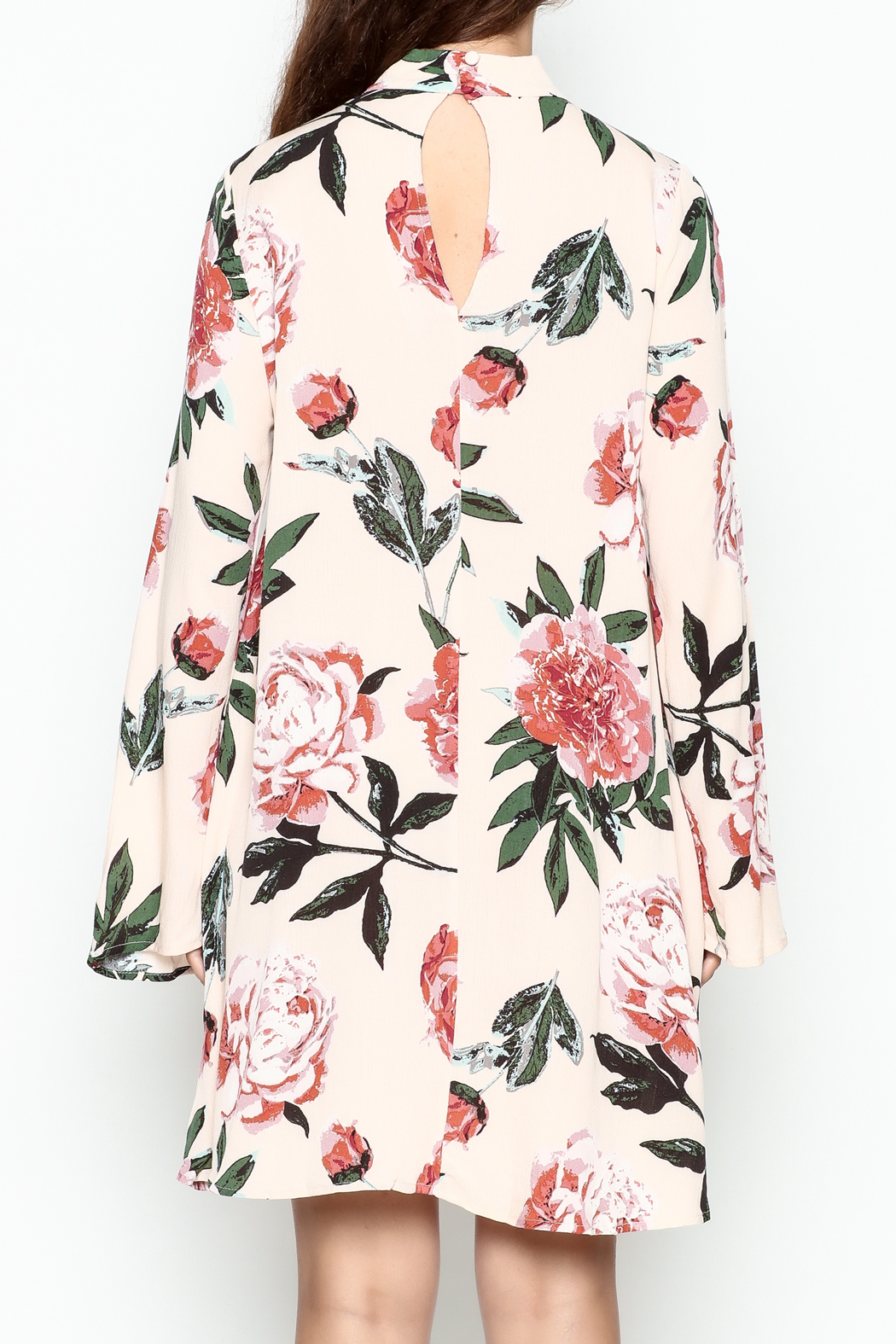Audrey Floral Print Long Sleeve - Back Cropped Image