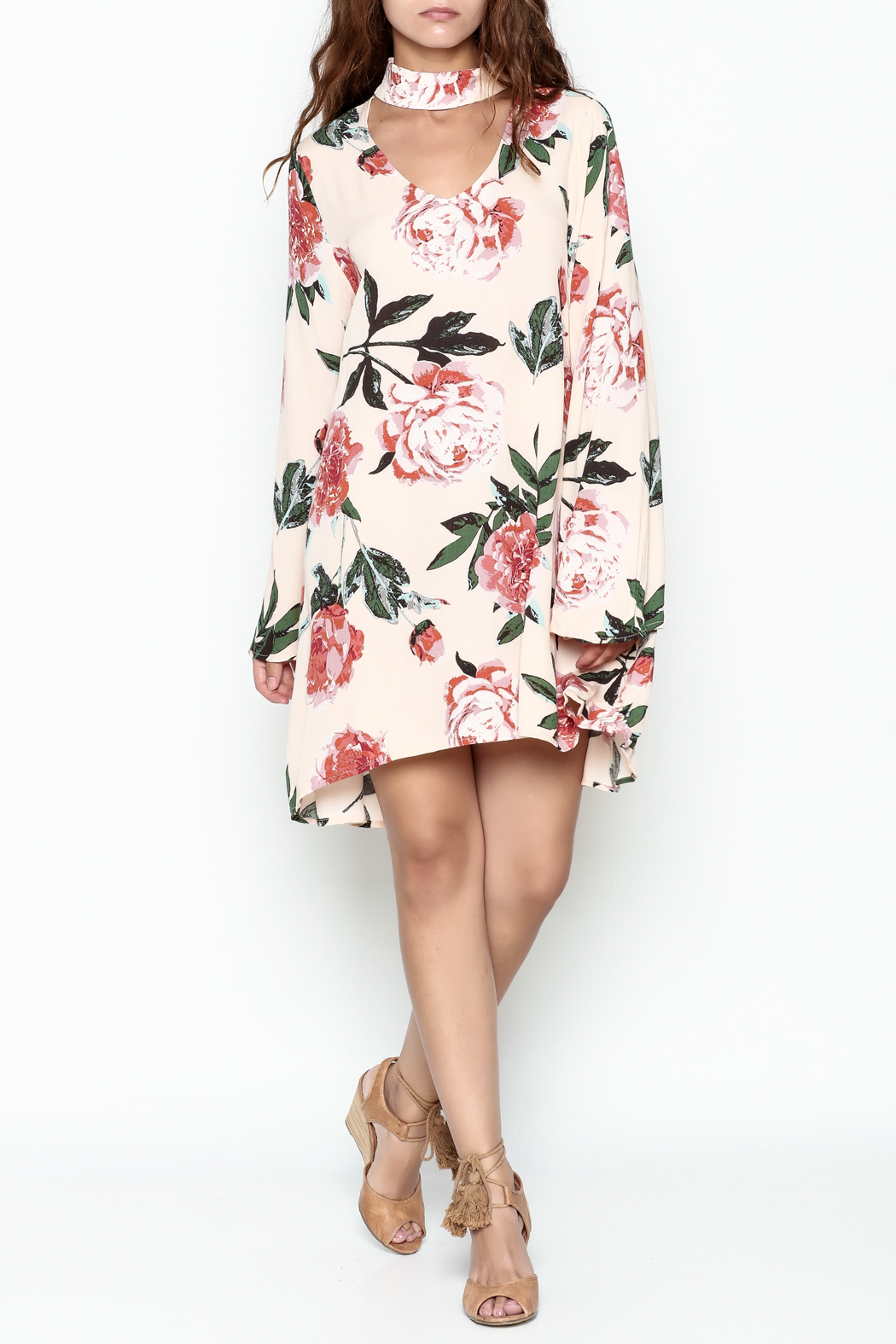 Audrey Floral Print Long Sleeve - Side Cropped Image