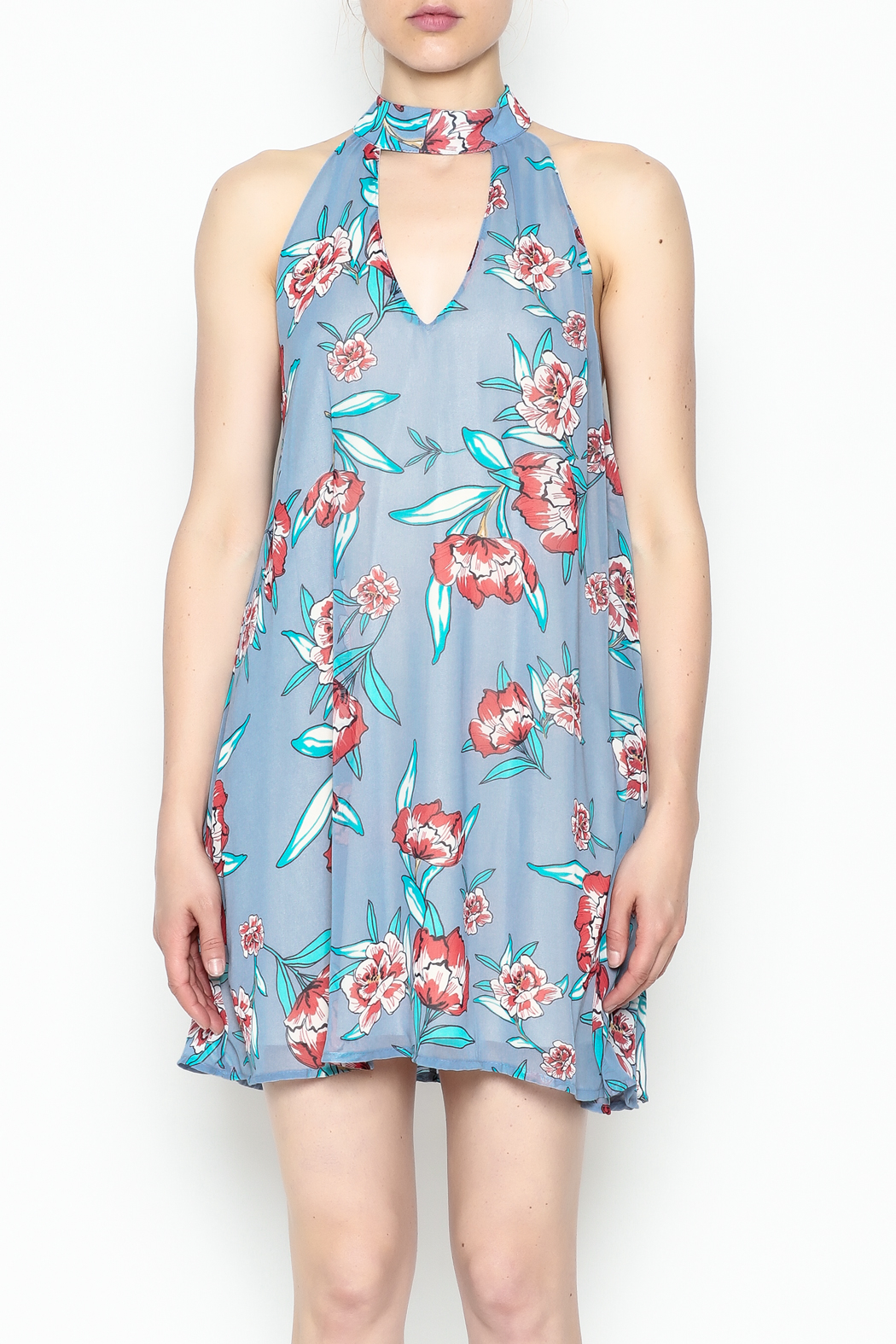 Audrey Floral Print Dress - Front Full Image