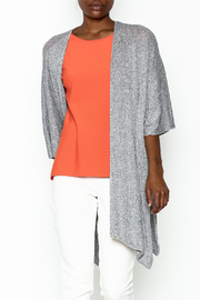 Audrey Grey Knit Cardigan - Front cropped