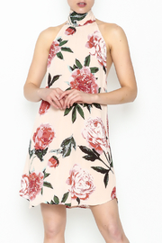 Audrey Halter Floral Dress - Product Mini Image