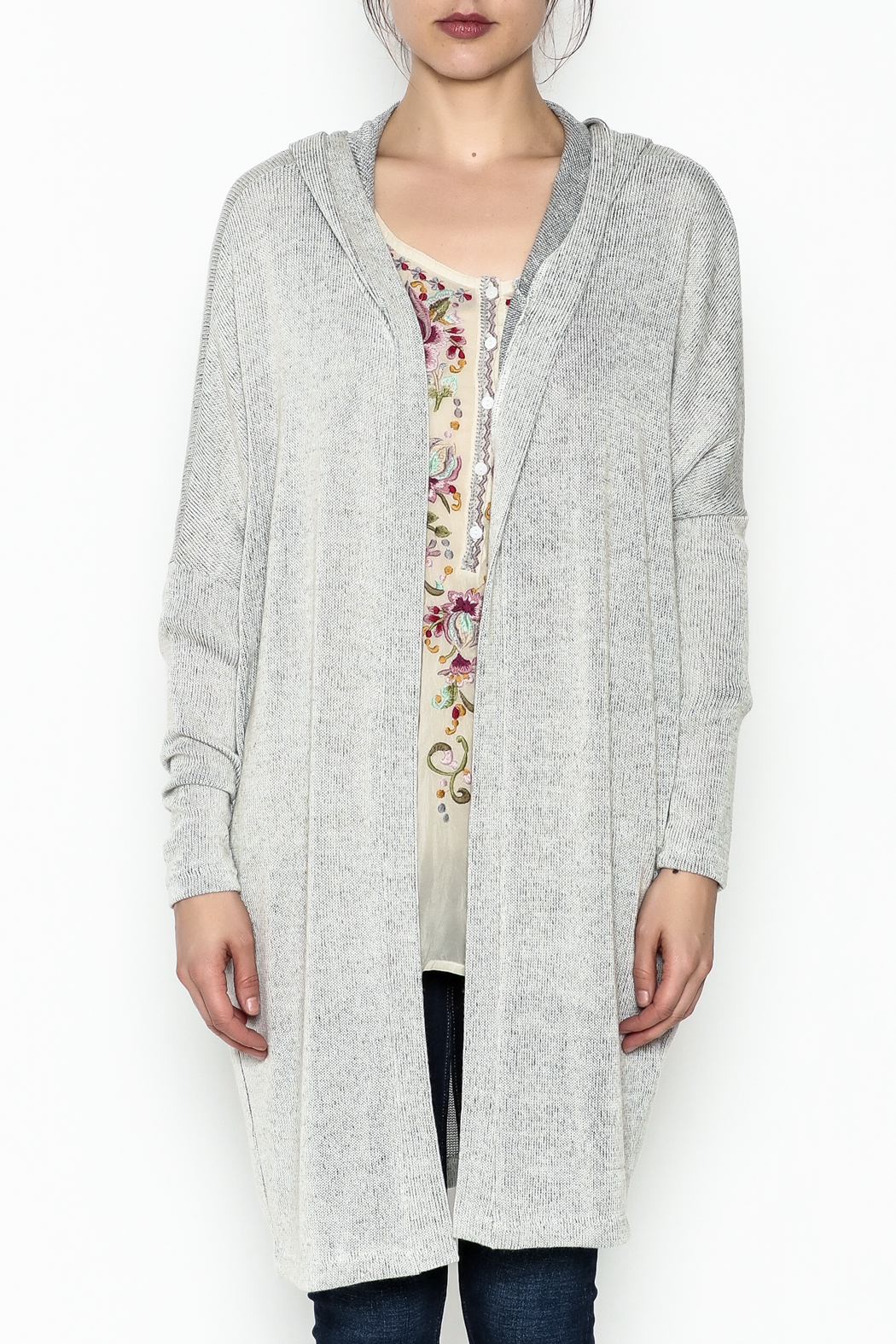 Audrey Hooded Cardigan - Front Full Image